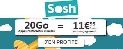 Forfait 20Go SOSH promo
