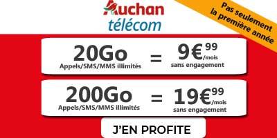 promo forfaits mobiles auchan telecom