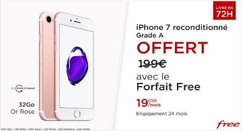 Vente privée Free avec un iPhone 7 offert