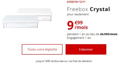 Freebox ADSL promo