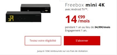 promo Freebox mini 4k
