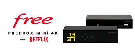 Freebox mini 4K avec Netflix en vente privée