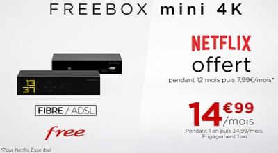 Forfait Freebox Netlfix vente privee
