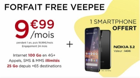 Vente privee Free Mobile 100Go