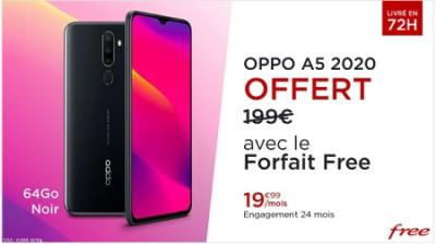 Vente privée Free Oppo A5