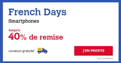French Days remises smartphones Darty