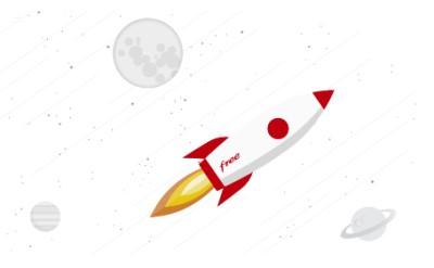 Visuel Fusée pour l'offre Freebox Mini 4K
