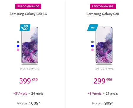 Samsung Galaxy S20 BT