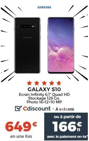 Galaxy S10 Cdiscount