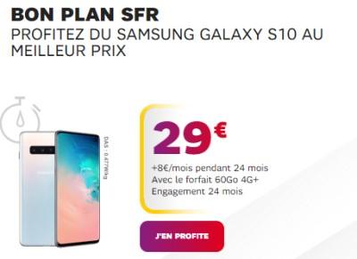 Samsung galaxy S10 promo SFR