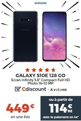 Galaxy S10E promo Cdiscount