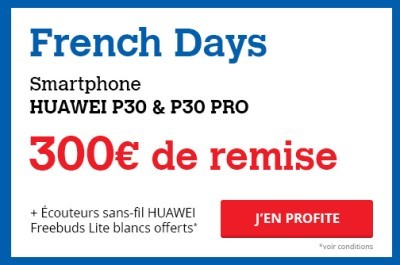 P30 et p30 pro french days darty