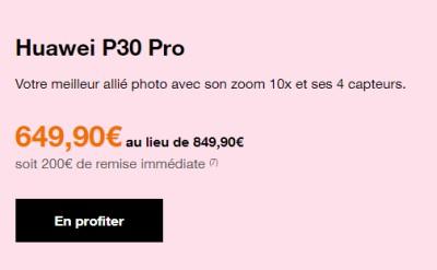 Huawei P30 Pro promo Orange
