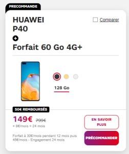 Huawei P40 SFR
