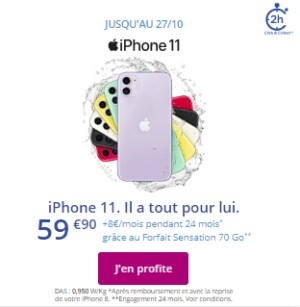 iPhone 11 promo Bouygues Telecom