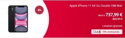 iphone 11 french days promo rakuten
