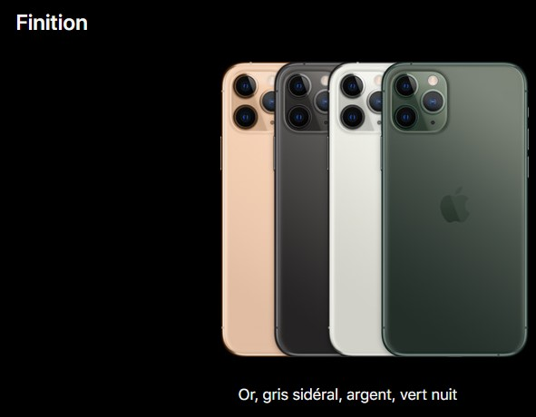 finition iPhone 11 pro