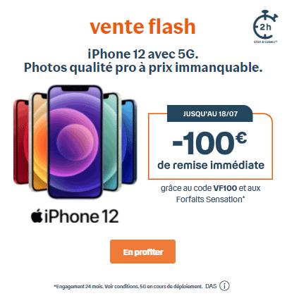Vente flash iphone 12 Bouygues