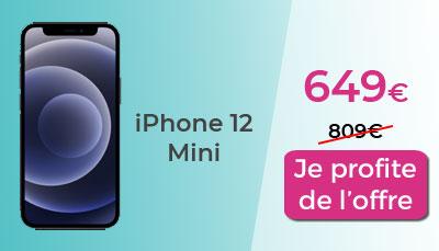 iPhone 12 mini soldes boulanger