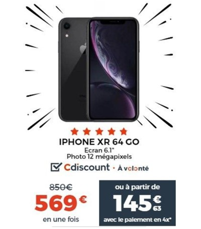iPhone Xr Cdiscount Black Friday