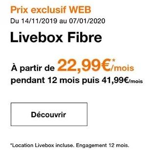 Livebox fibre promo