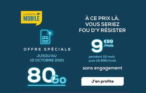 promo la poste mobile 80 go