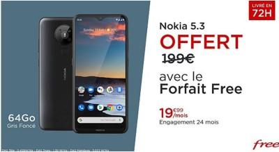Vente privee Free Nokia 5.3