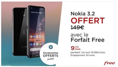 Vente privee Free pack Nokia 3.2