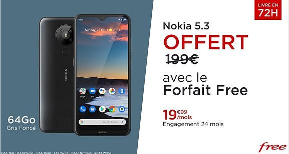 Nokia 5.3 avec Free en vente privée