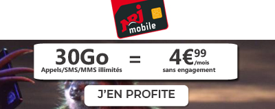 Forfait NRJ Mobile 30Go