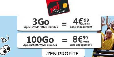 Forfaits NRJ Mobile en promo