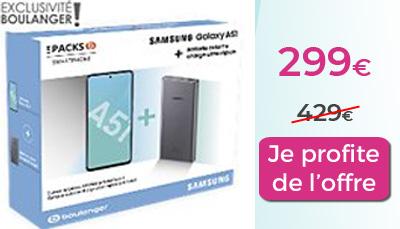 Pack Galaxy A51 Boulanger