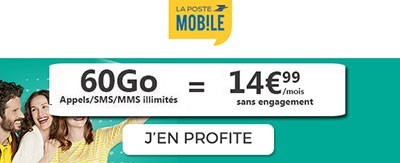 Forfait La Poste Mobile 60Go