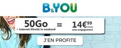 Bouygues Telecom 50Go promo