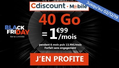 Forfait Cdiscount Mobile 40Go