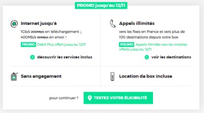 Options offertes avec la RED BOX