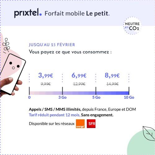 Promo forfait mobile Le petit