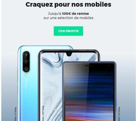 promos 100€ sur 5 smartphones RED