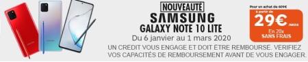 Galaxy Note 10 Lite promo