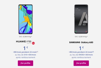 Promos Smartphones Bouygues Telecom