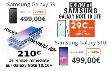 Samsung Galaxy Promos Boulanger