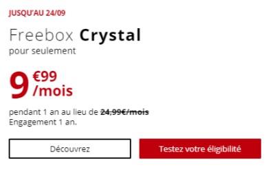 Freebox Crystal promo