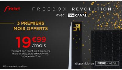 vente privee Freebox revolution