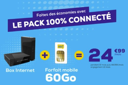 Pack connecté la Poste mobile