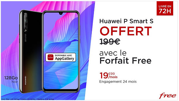 Vente privée huawei p smart s free