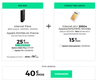 BOX RED + forfait mobile