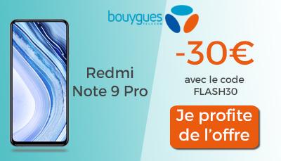 redmi note 9 pro bouygues telecom