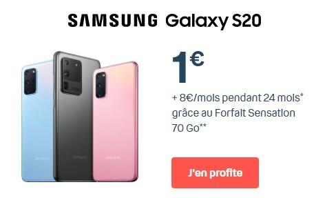 samsung galaxy S20 à 1 euro