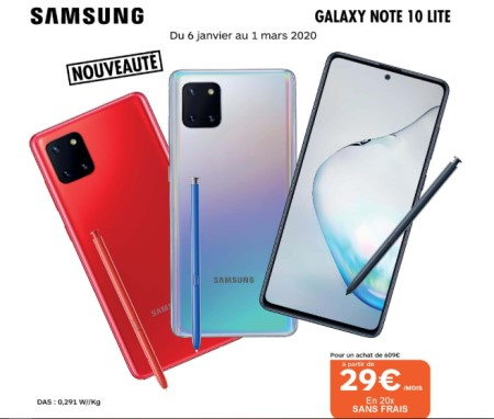 Galaxy Note 10 Boulanger