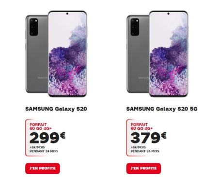 Precommande Galaxy S20 SFr